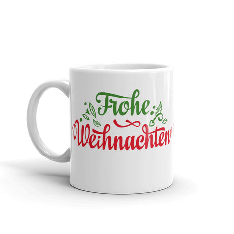 German Merry Christmas Mug Frohe Weihnacht
