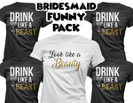 Bridesmaid Shirts Pack of 5 - Wedding Party Tops