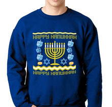 Load image into Gallery viewer, Hanukkah Ugly Sweater Sweatshirt