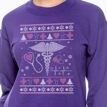 Load image into Gallery viewer, Nurse Ugly Sweater Sweatshirt