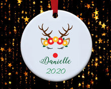 Load image into Gallery viewer, Reindeer Ornament - Custom Ornament