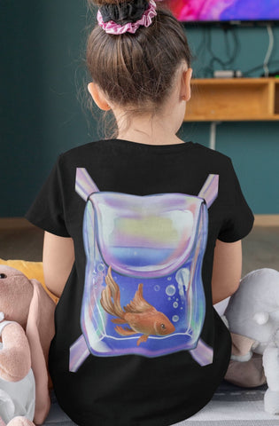 Goldfish Backpack T Shirt