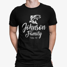 Load image into Gallery viewer, Personalized Family Fishing T Shirt