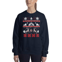 Load image into Gallery viewer, Camping Ugly Christmas Sweatshirt