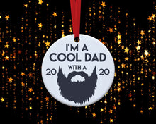 Load image into Gallery viewer, Cool Dad with A Beard Ornament - Dad Beard Ornament