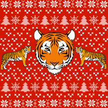 Load image into Gallery viewer, Tiger Ugly Christmas Sweatshirt