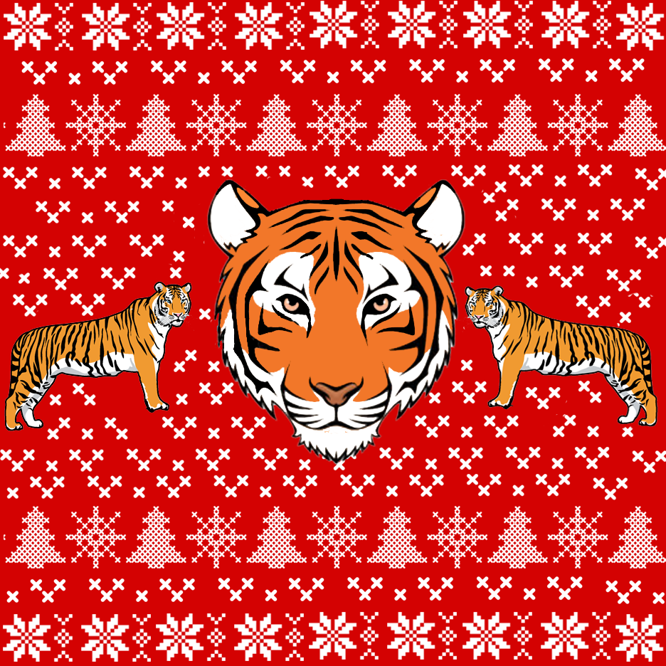 Tiger Ugly Christmas Sweatshirt