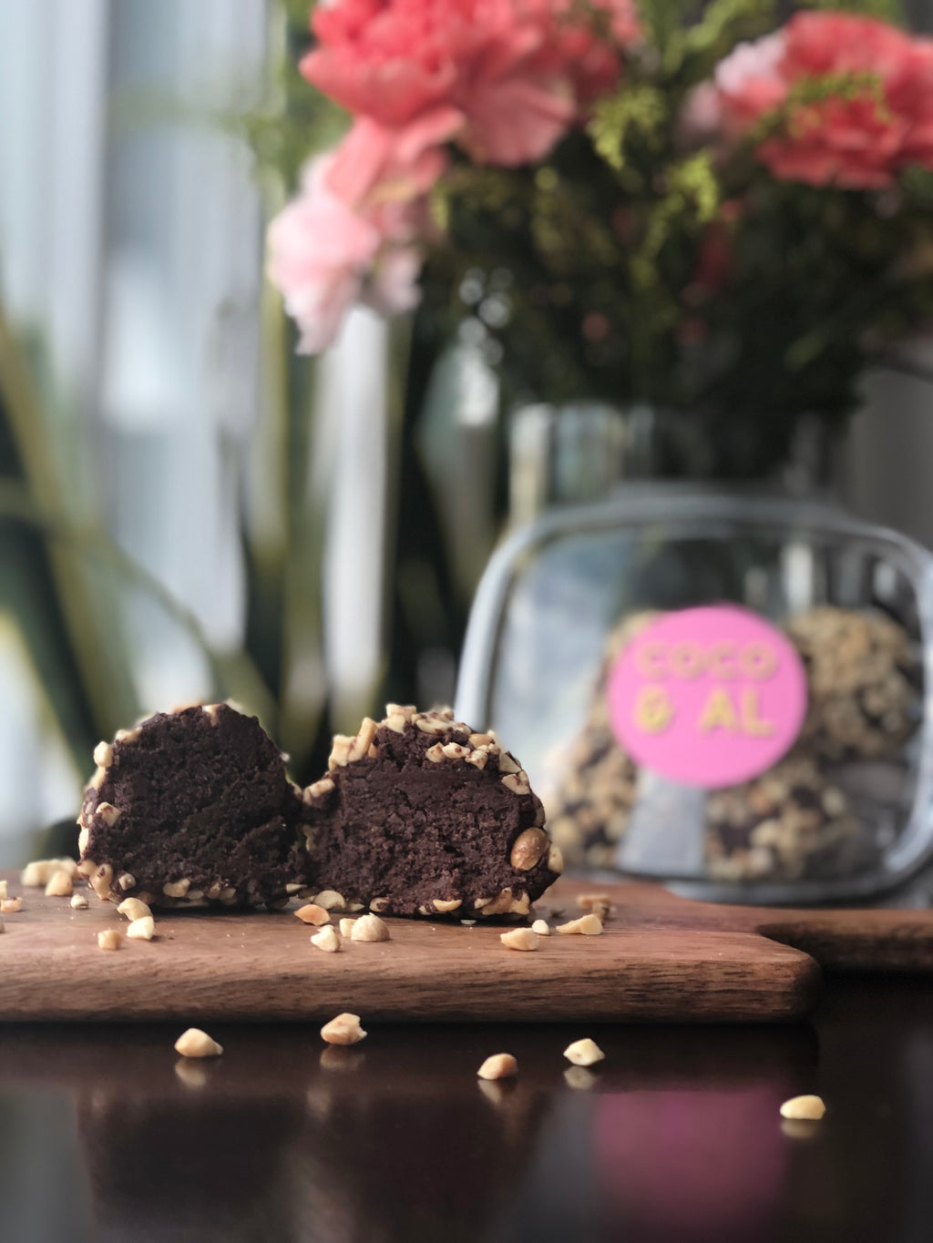 Chocolate Peanut Butter Cake Truffles (4pcs)