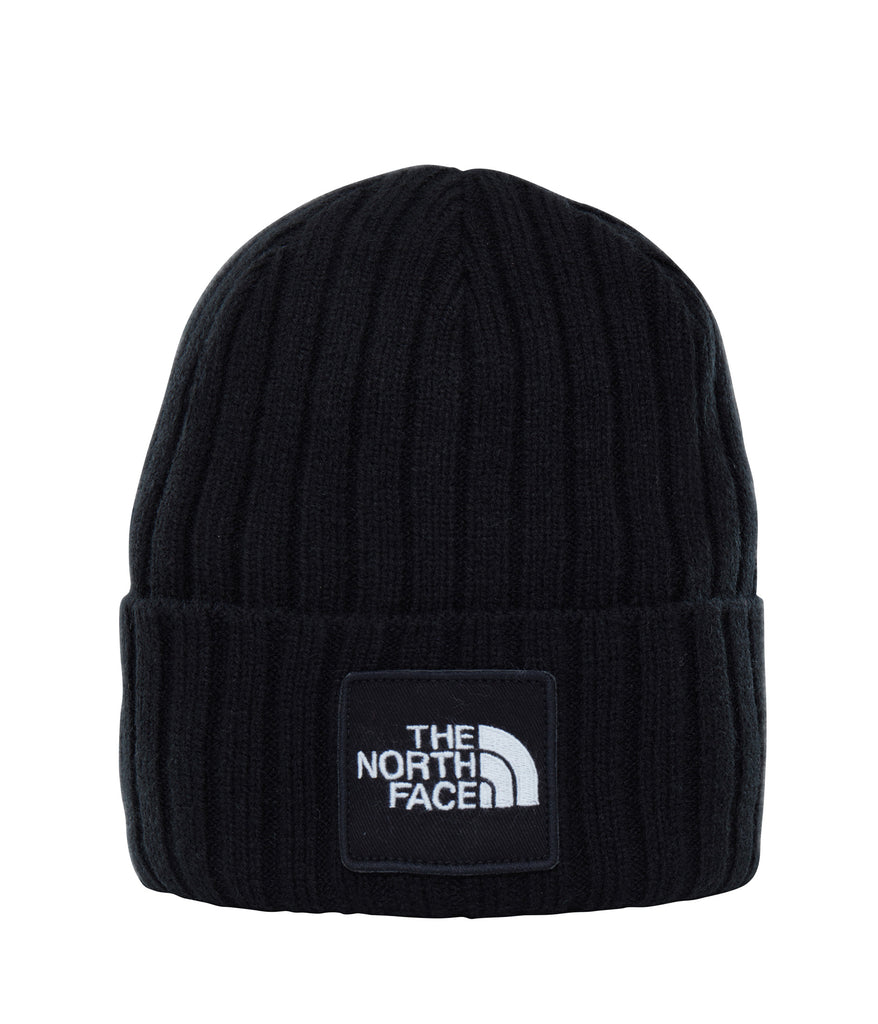 The North Face TNF Logo Box Cuff Beanie TNF Black, Beanies, The North Face, My Favorite Things