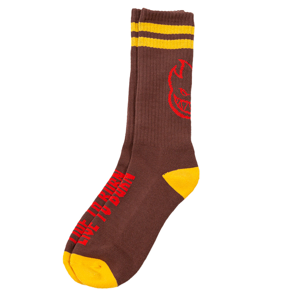 Spitfire - Heads Up Sock Dk Red/Yellow/Red