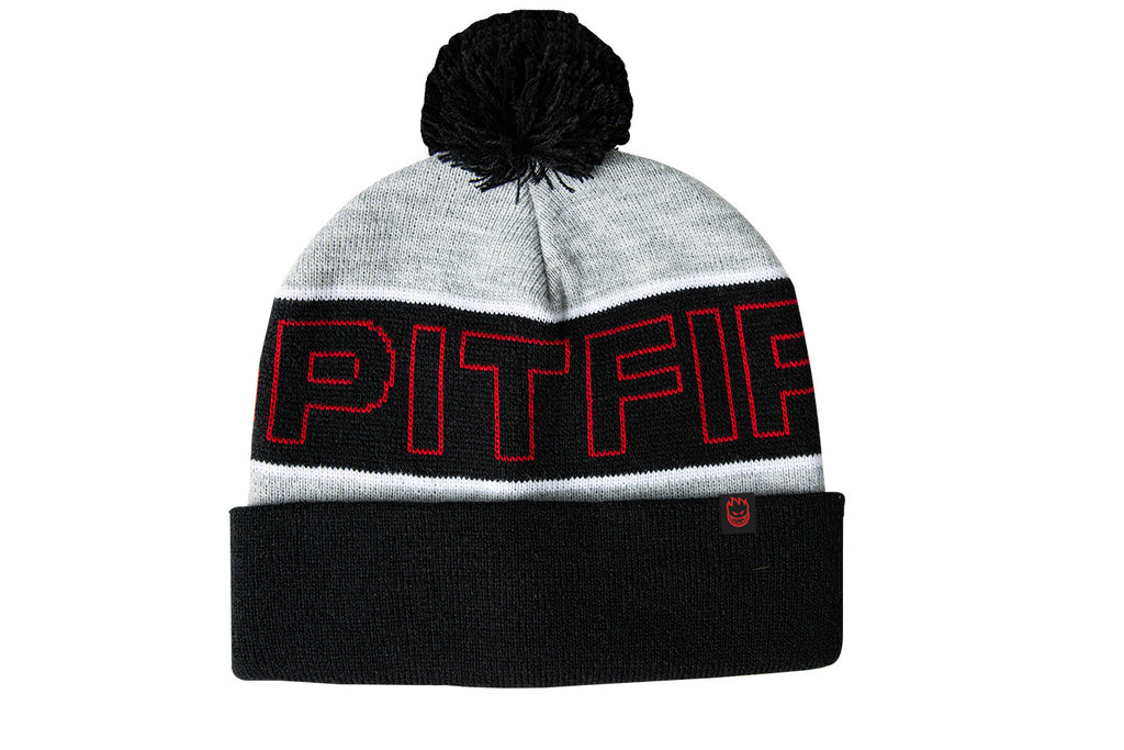 Spitfire - Classic 87 Pom Beanie Heather Grey