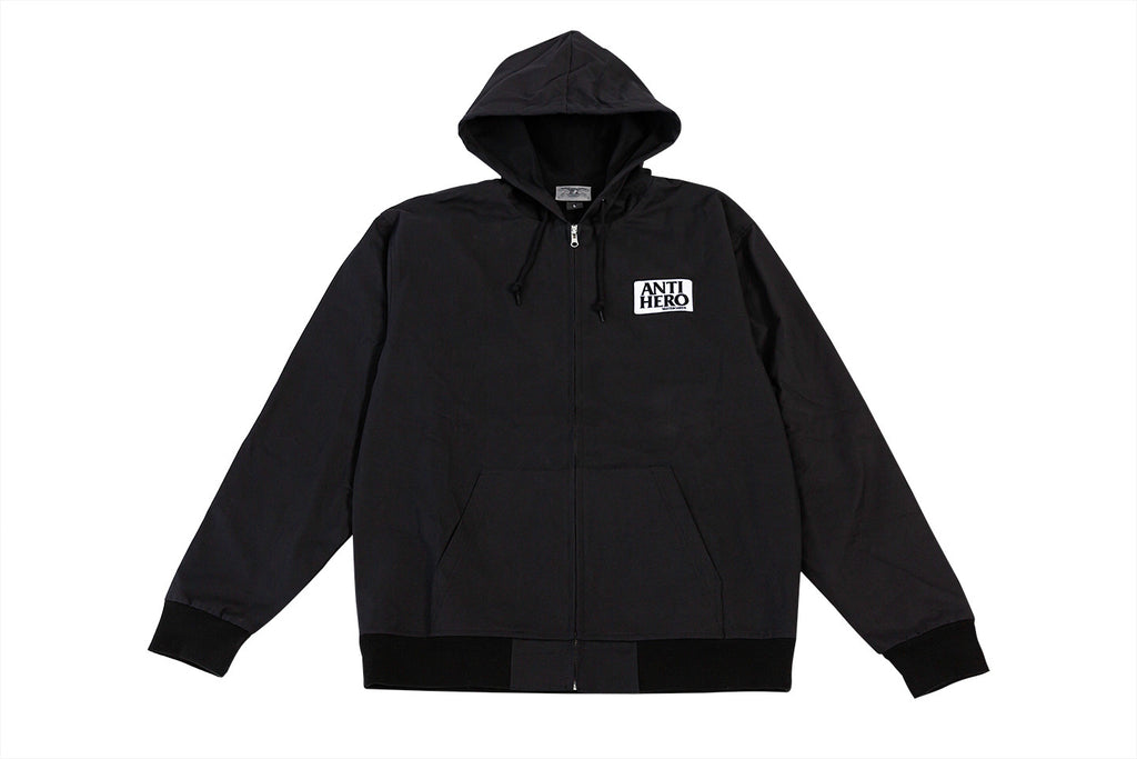 Antihero - Reserve Custom Hooded Zip Up Jacket Black
