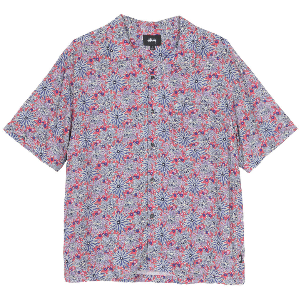 Stüssy - Floral Print Shirt Red, Shirts & Flannels, Stüssy, My Favorite Things