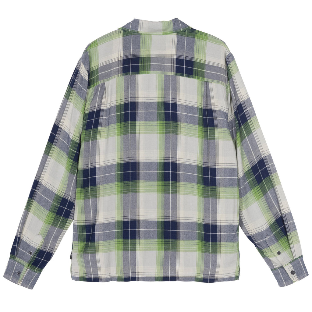 Stüssy - Rayon Plaid LS Shirt Blue, Shirts & Flannels, Stüssy, My Favorite Things