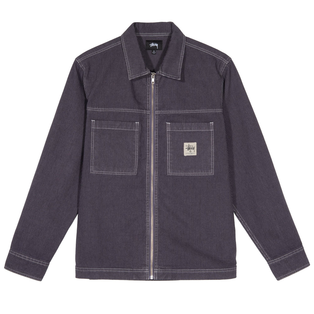 Stüssy - Overdyed Hickory LS Zip Shirt Purple, Shirts & Flannels, Stüssy, My Favorite Things