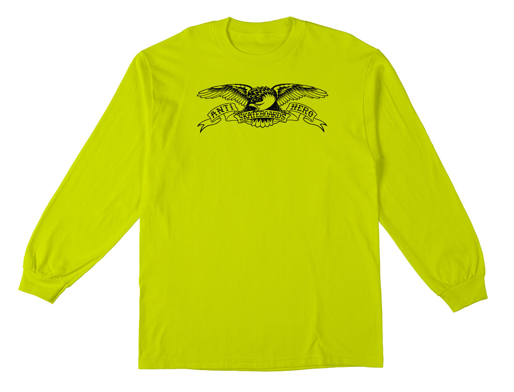 Antihero - Basic Eagle L/S Safety Green