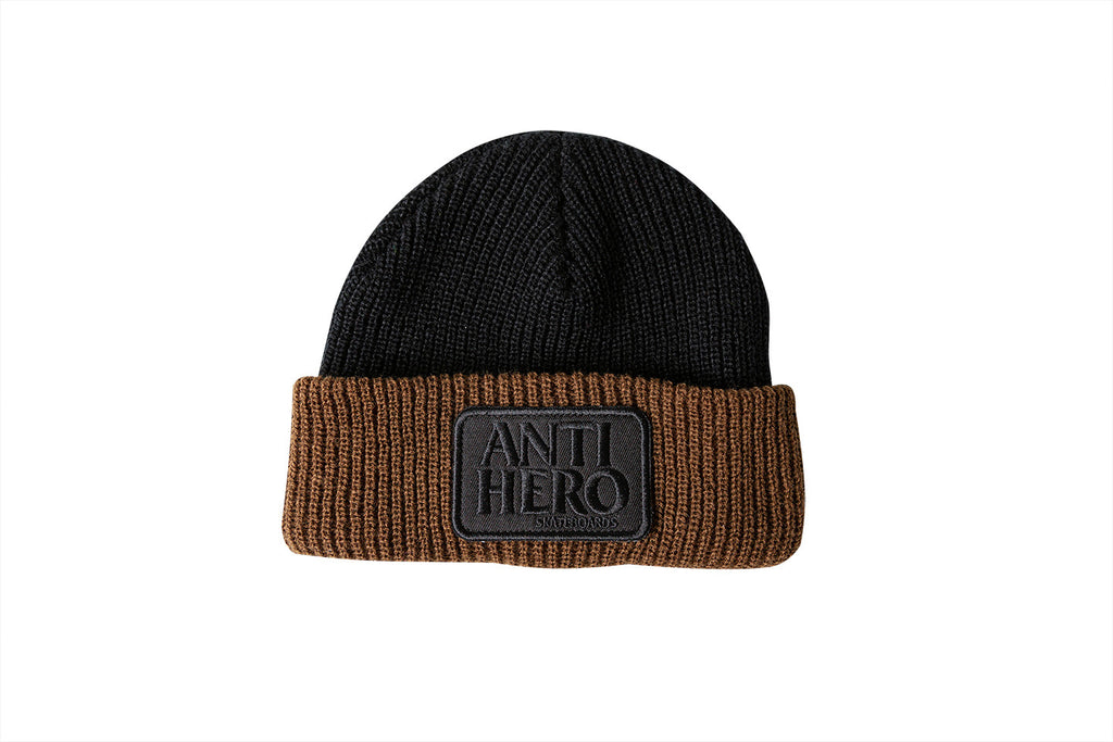 Antihero - Reserve Patch Cuff Beanie Black/Brown