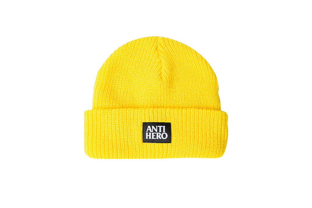 Antihero - Lil Blackhero Cuff Beanie Yellow