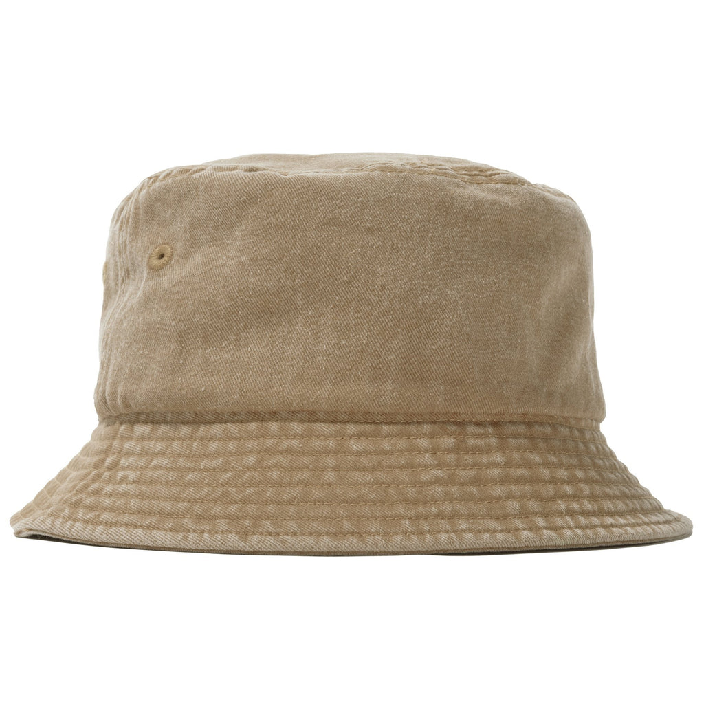 Stüssy - Stock Washed Bucket Hat Khaki, Caps, Stüssy, My Favorite Things