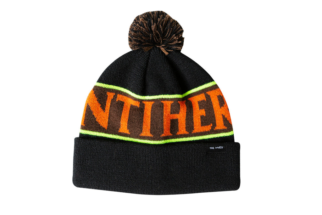 Antihero - Black Hero Pom Beanie Black/Multi