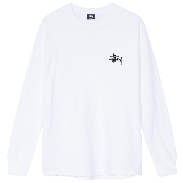 Stussy Basic Stussy LS Tee White, T-Shirts, Stüssy, My Favorite Things