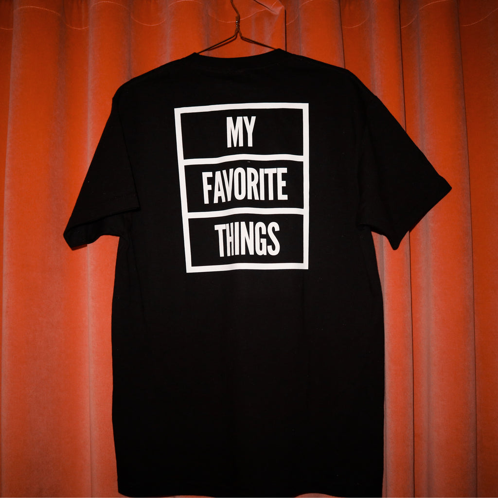 My Favorite Things - OG Box Logo T-Shirt Black / White, T-Shirts, My Favorite Things, My Favorite Things