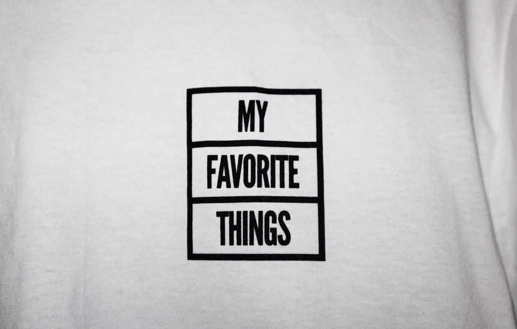 My Favorite Things - OG Box Logo T-Shirt White / Black, T-Shirts, My Favorite Things, My Favorite Things