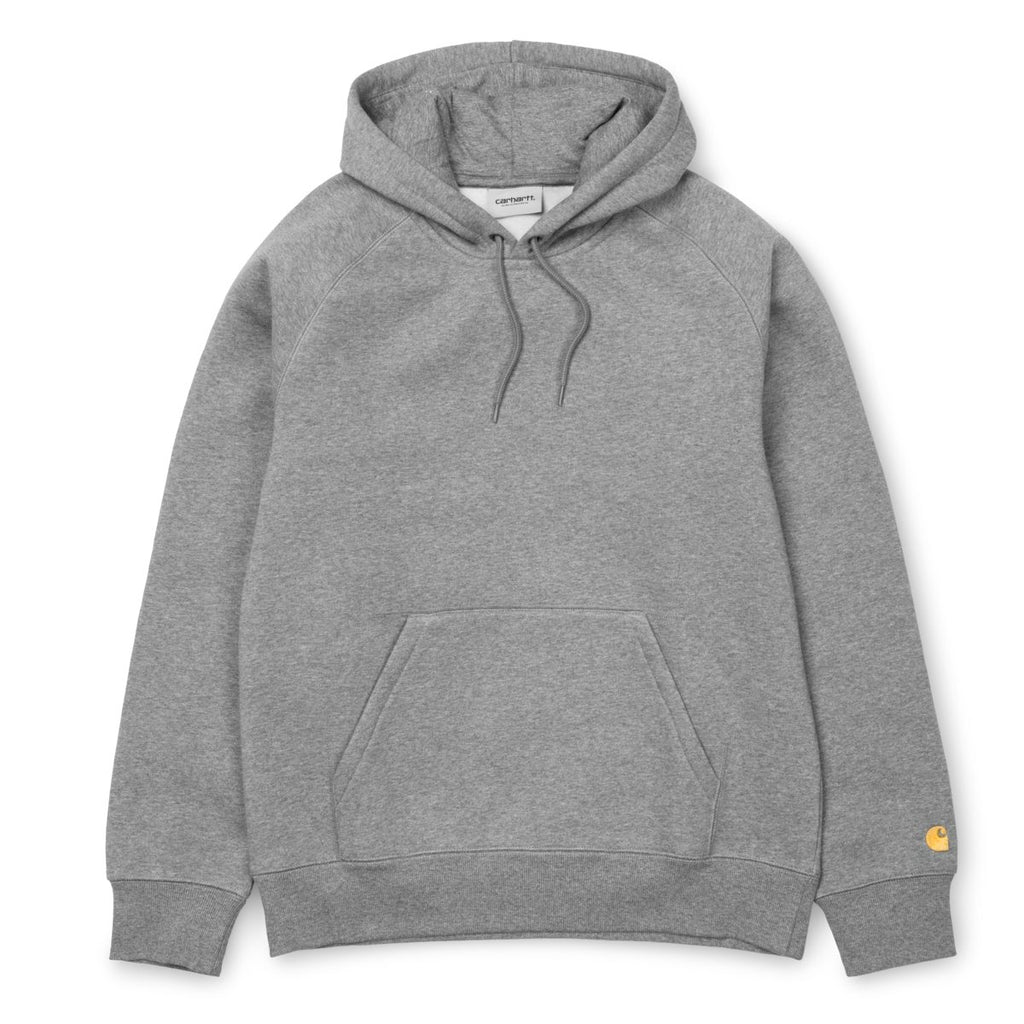 Carhartt - Hooded Chase Sweatshirt Heather Grey, Crewnecks & Hoodies, Carhartt WIP, My Favorite Things