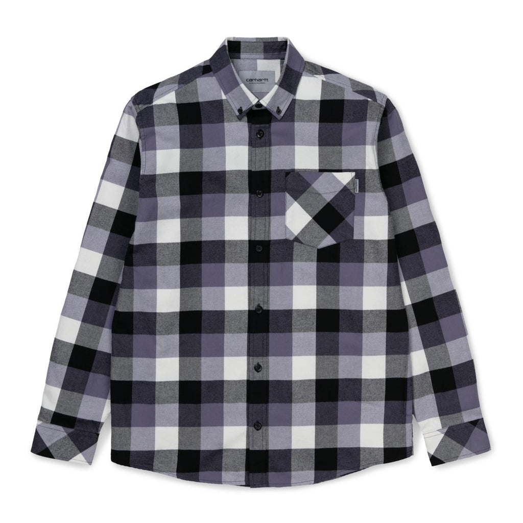 Carhartt - L/S Keagan Shirt Keagan Check/Decent Purple, Shirts & Flannels, Carhartt WIP, My Favorite Things