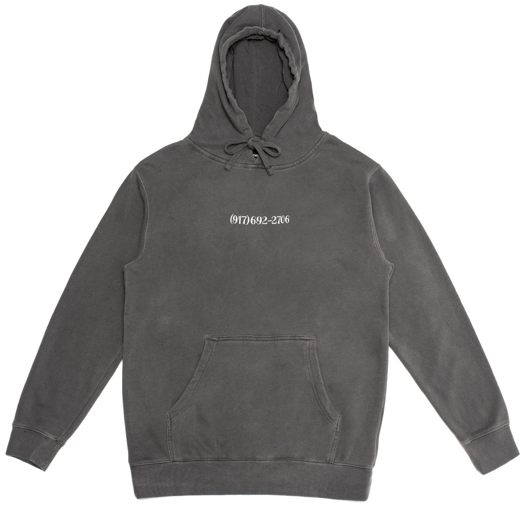 Call Me 917 - Small Dialtone Pullover Hood Pigment Dyed Black