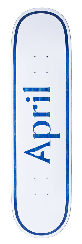 April Skateboards Blue Logo 8.38""