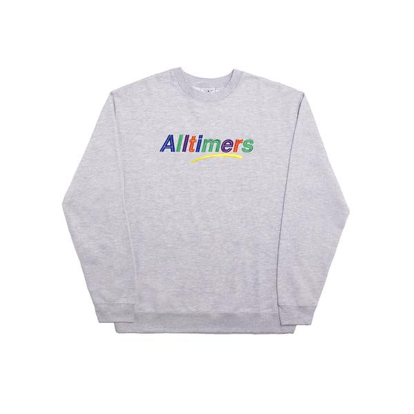 Alltimers - Estate Embroidered Crew Heather Grey