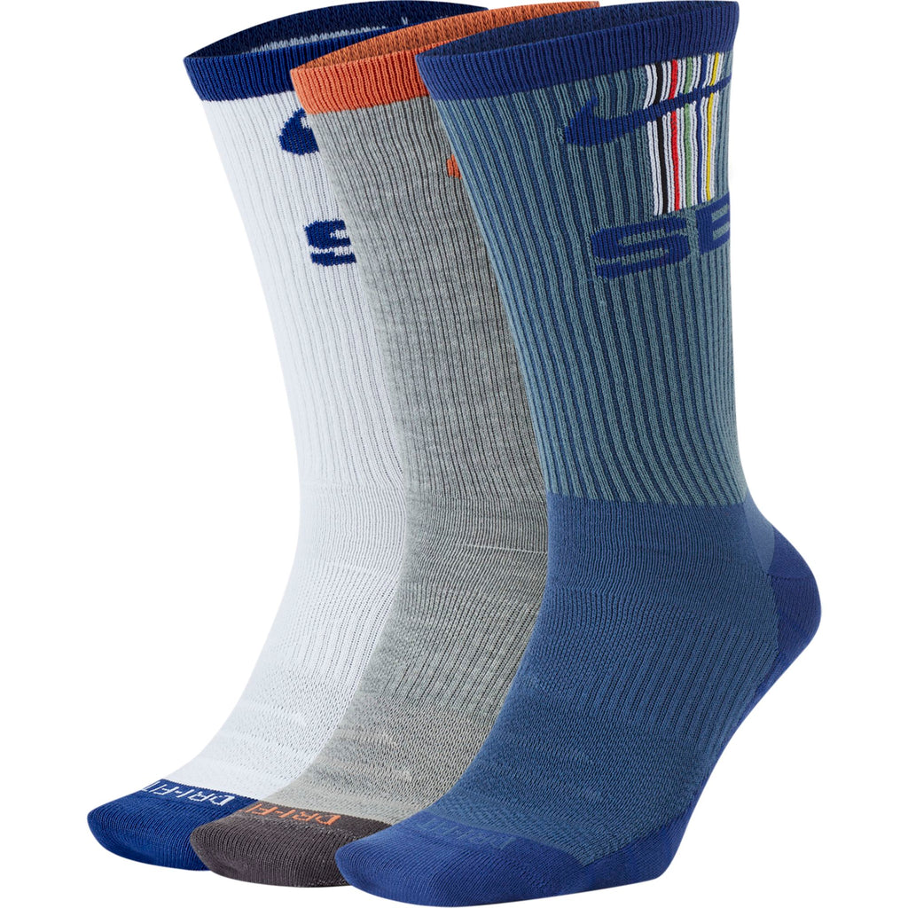 NIKE SB Everyday Max Lightweight Socks 3 Pack Multi-Color
