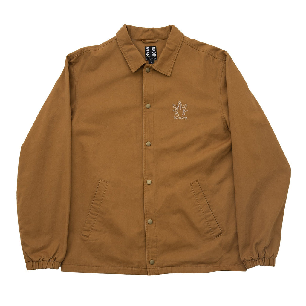 Bronze - Weed Finger Coach Jacket Hashbrown, Jackets, Bronze, My Favorite Things