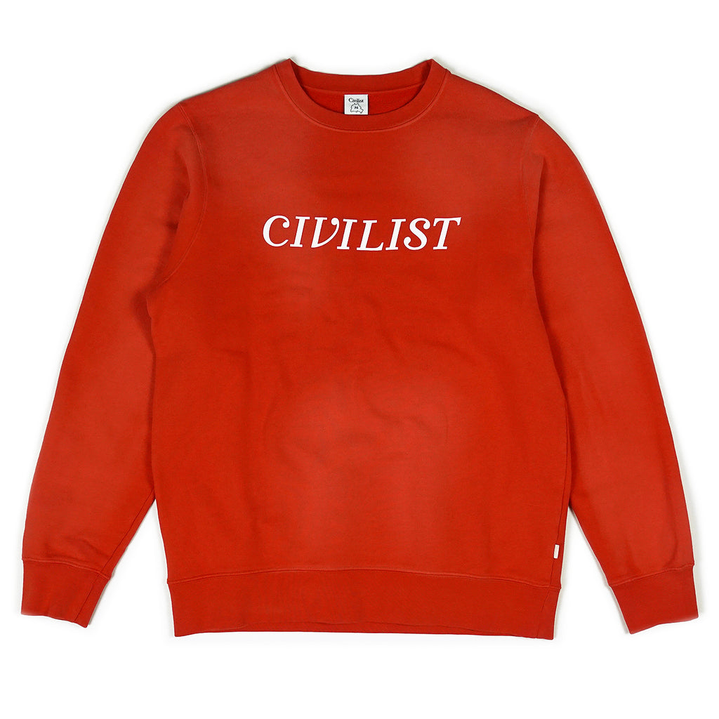 Civilist - Chakra Dyed Crew Overdyed Red, Crewnecks & Hoodies, Civilist, My Favorite Things