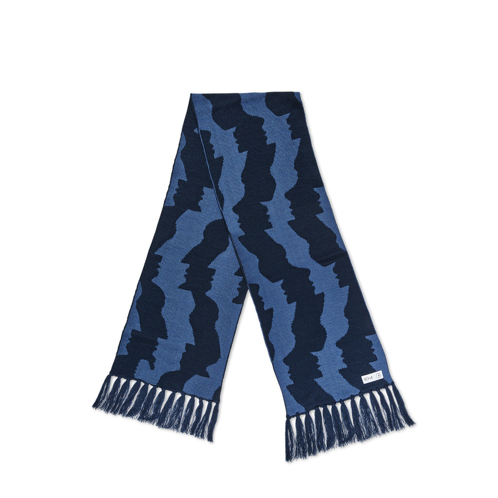 Polar - Faces Scarf Blue