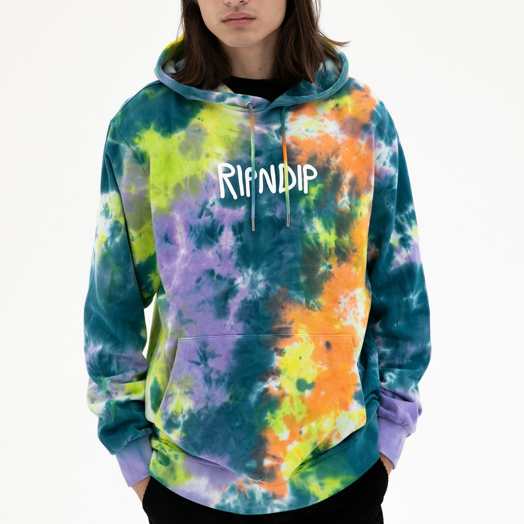 Rip N Dip Rubber Logo Hoodie Tye Dye, Crewnecks & Hoodies, Rip N Dip, My Favorite Things