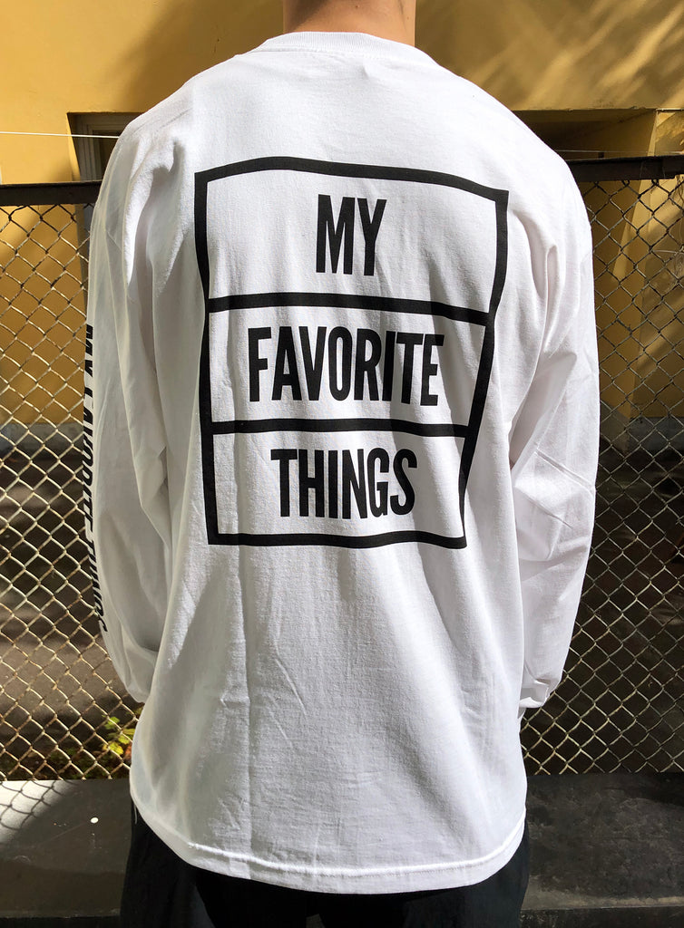 My Favorite Things OG Longsleeve T-Shirt White, T-Shirts, My Favorite Things, My Favorite Things