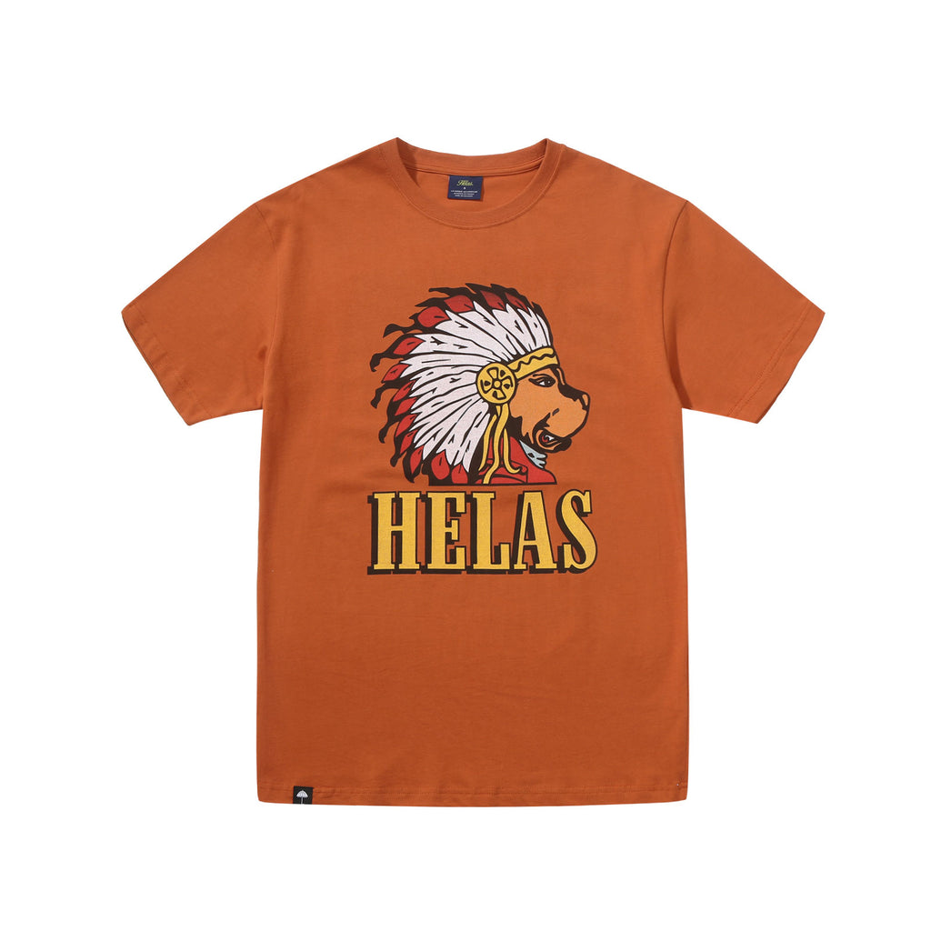 Helas Indian Dog Tee Brown, T-Shirts, Hélas Caps, My Favorite Things