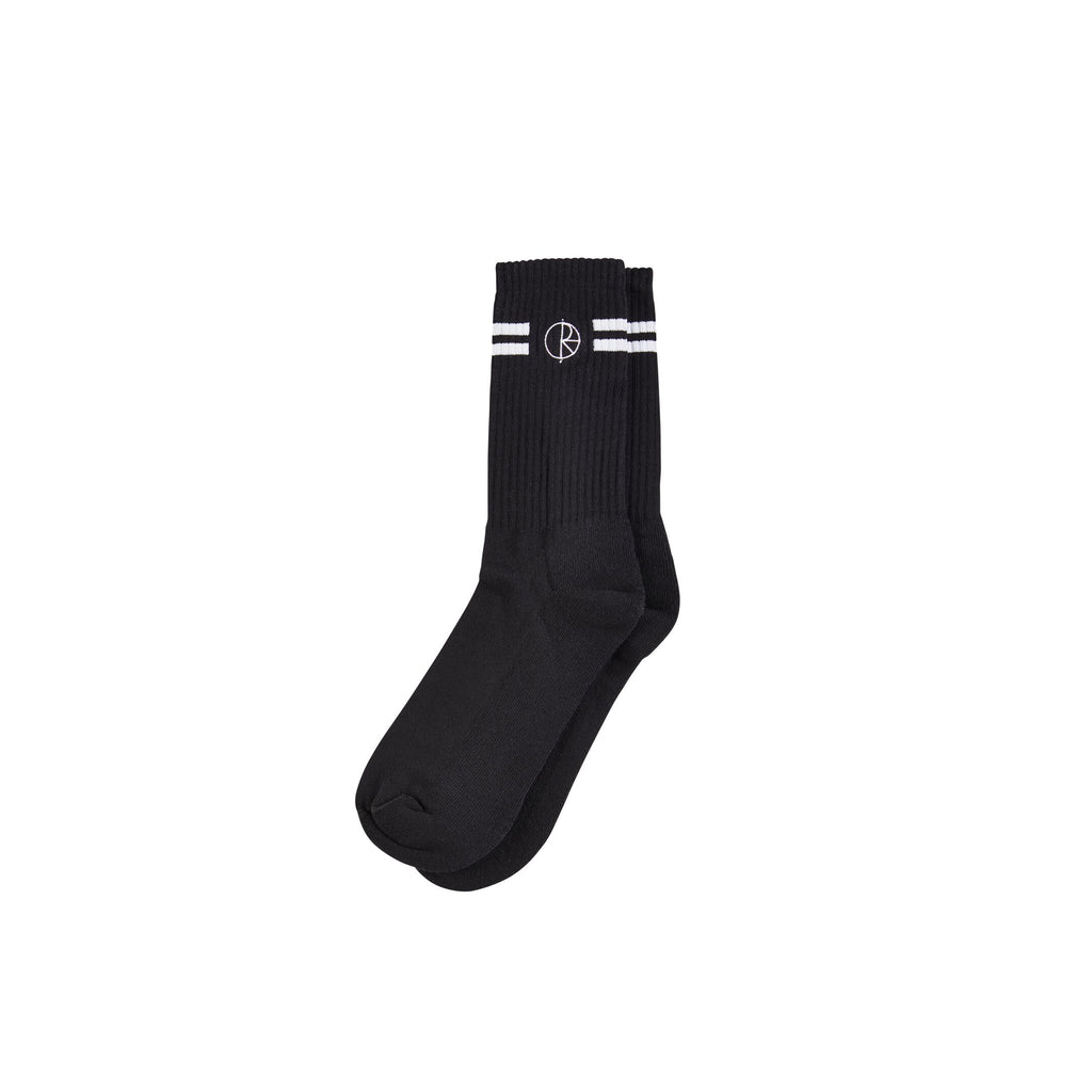 Polar Stroke Logo Socks Black / White, Socks, Polar Skate Co., My Favorite Things