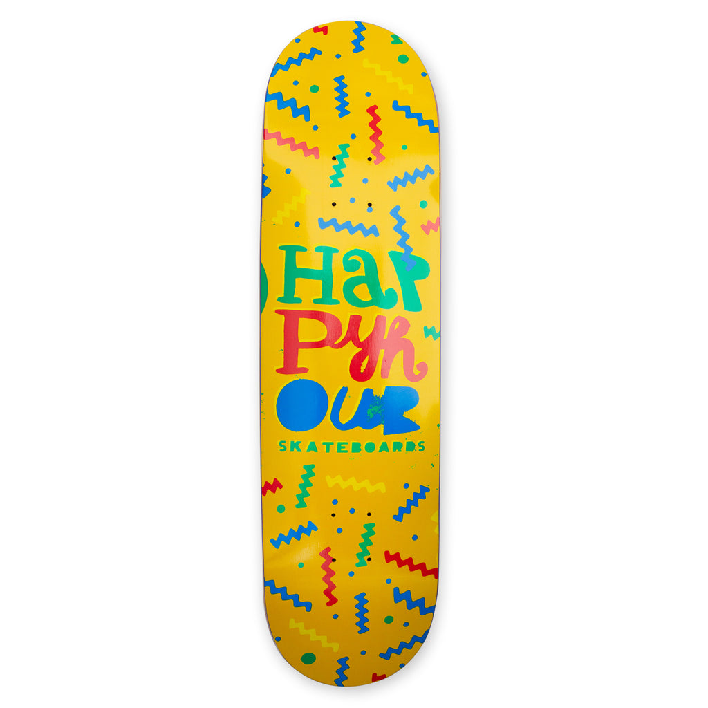Happy Hour Skateboards - 80s Logo 8.0""