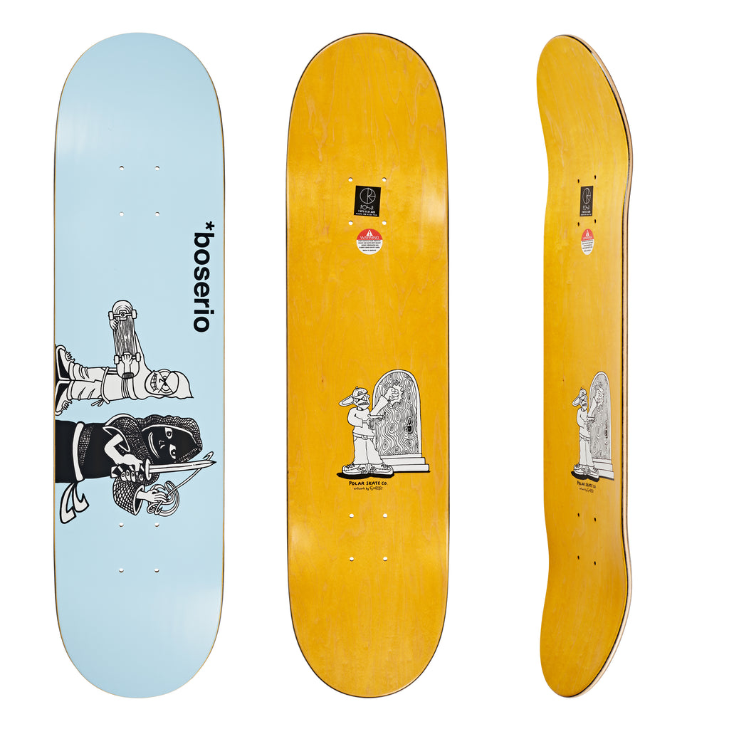 "Polar Nick Boserio Knock Knock Light Blue Slick 8.625"", Decks, Polar Skate Co., My Favorite Things"