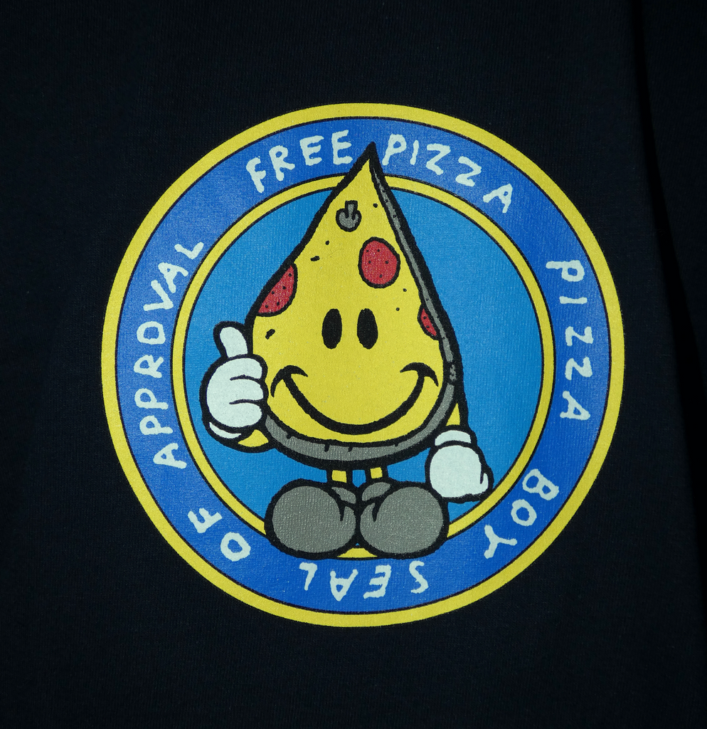 Free Pizza Hardware Seal Of Approval T-Shirt Dark Navy