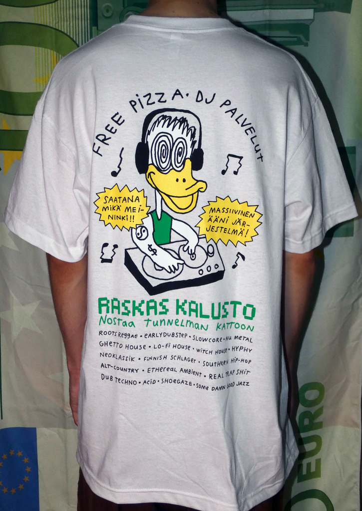 Free Pizza Hardware DJ Service T-Shirt White
