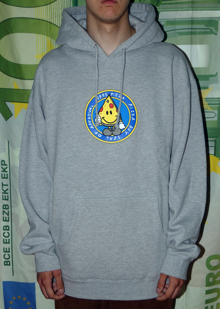 Free Pizza Hardware Seal Of Approval Hoodie Grey Melange