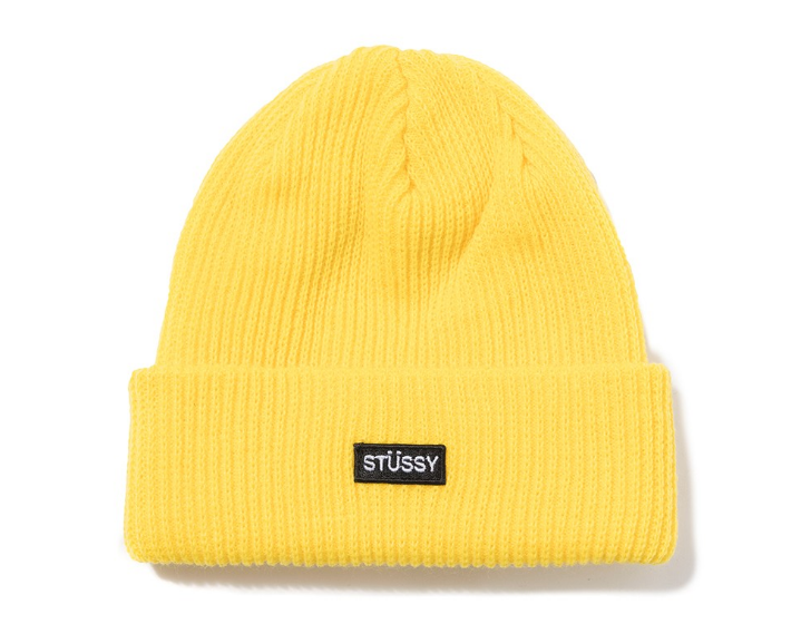 Stussy Small Patch Watch Cap Beanie Yellow