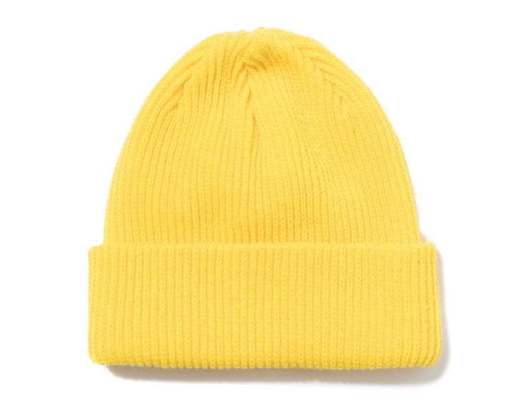 Stussy Small Patch Watch Cap Beanie Yellow, Beanies, Stüssy, My Favorite Things