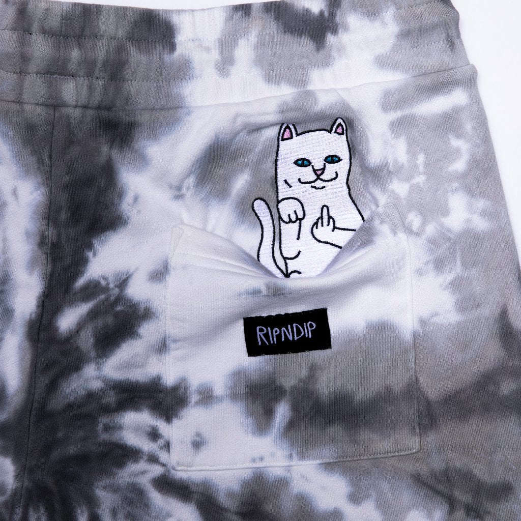 Rip N Dip - Peeking Nerm Sweat Shorts  Black Spiral Tie Dye, Shorts, Rip N Dip, My Favorite Things