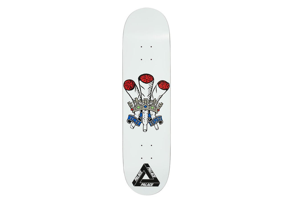 Palace Skateboards - Ich Bun White 8.0""