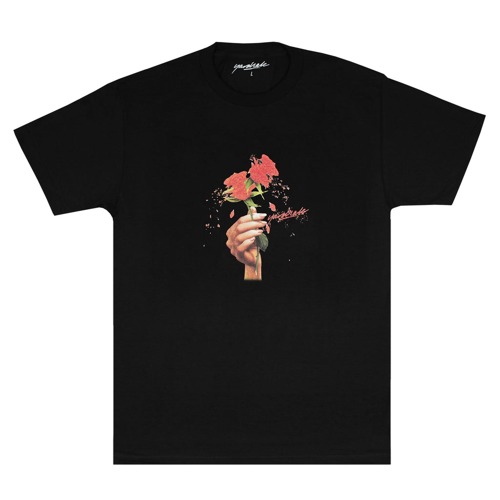 Yardsale Red Rose T-Shirt Black, T-Shirts, Yardsale, My Favorite Things